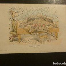 Postales: POSTAL PUBLICITARIA EDITORIAL DE MUSICA CASA DOTESIO MADRID BILBAO BARCELONA SANTANDER. Lote 181928358