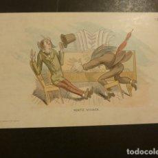 Postales: POSTAL PUBLICITARIA EDITORIAL DE MUSICA CASA DOTESIO MADRID BILBAO BARCELONA SANTANDER. Lote 181928437