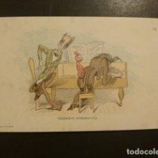 Postales: POSTAL PUBLICITARIA EDITORIAL DE MUSICA CASA DOTESIO MADRID BILBAO BARCELONA SANTANDER. Lote 181928592