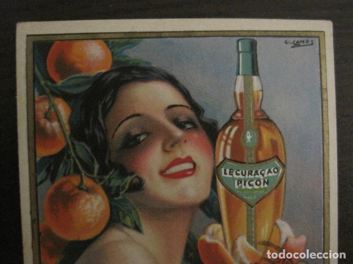 Postales: LE CURAÇAO PICON-ILUSTRACION GASPAR CAMPS-POSTAL PUBLICITARIA-VER FOTOS-(63.727) - Foto 2 - 182223691