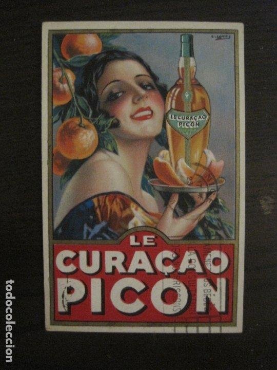 LE CURAÇAO PICON-ILUSTRACION GASPAR CAMPS-POSTAL PUBLICITARIA-VER FOTOS-(63.727) (Postales - Postales Temáticas - Publicitarias)