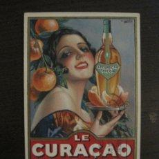 Postales: LE CURAÇAO PICON-ILUSTRACION GASPAR CAMPS-POSTAL PUBLICITARIA-VER FOTOS-(63.727). Lote 182223691