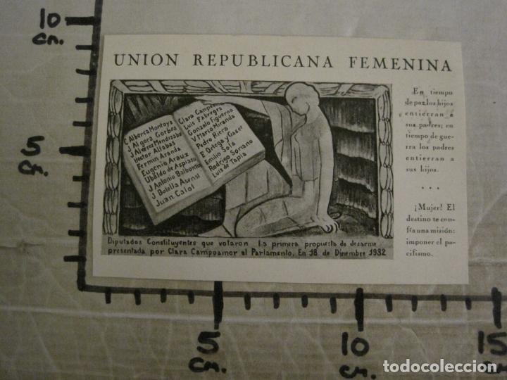 Postales: UNION REPUBLICANA FEMENINA-CLARA CAMPOAMOR-POSTAL ANTIGUA-VER FOTOS-(63.804) - Foto 6 - 182395583