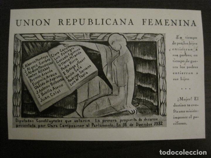 UNION REPUBLICANA FEMENINA-CLARA CAMPOAMOR-POSTAL ANTIGUA-VER FOTOS-(63.804) (Postales - Postales Temáticas - Publicitarias)