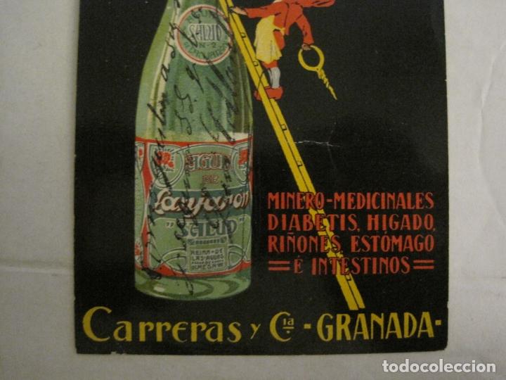 Postales: BALNEARIO Y AGUAS DE LANJARON-CARRERAS Y CIA-GRANADA-POSTAL PUBLICITARIA ANTIGUA-VER FOTOS-(63.806) - Foto 5 - 182398188