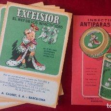 Postales: AB-702-LOTE DE - 10- POSTALES PUBLICITARIAS DE - EXCELSIOR - INSECTICIDA Y ANTIPARASITARIO, 9 Y 1. Lote 182705985