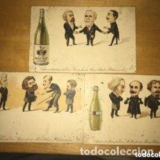 Postales: LOTE POSTALES ANTIGUAS PUBLICIDAD AGUA MINERAL MONT PILAT FRANCIA DÉCADA 1910. Lote 182974885