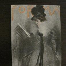 Postales: RAMON CASAS-POSTAL ANTIGUA-PUBLICIDAD REVISTA FORMA-VER FOTOS-(64.133). Lote 183084848