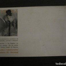 Postales: RAMON CASAS-POSTAL ANTIGUA PUBLICIDAD REVISTA FORMA-REVERSO SIN DIVIDIR-VER FOTOS-(64.132). Lote 183085476
