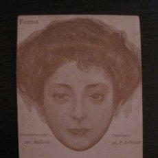 Postales: RAMON CASAS-POSTAL ANTIGUA-PUBLICIDAD REVISTA FORMA-REVERSO SIN DIVIDIR-(64.134). Lote 183090688
