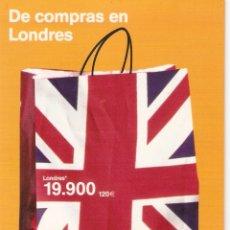 Postales: POSTAL PUBLICITARIA LUFTHANSA - DE COMPRAS EN LONDRES. Lote 183092961