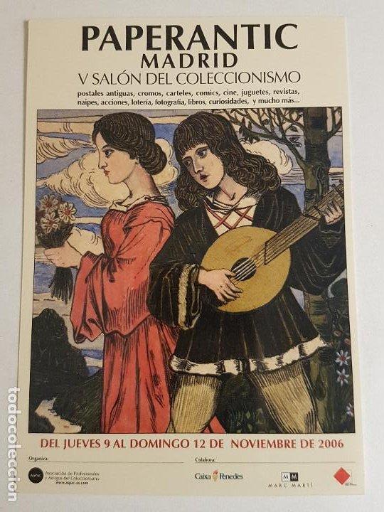 PAPERANTIC MADRID SALON DEL COLECCIONISMO INVITACION PUBLICITARIA 2006 (Postales - Postales Temáticas - Publicitarias)