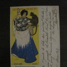Postales: RAMON CASAS-POSTAL PUBLICIDAD ANIS DEL MONO-REVERSO SIN DIVIDIR-VER FOTOS-(64.419). Lote 183700327