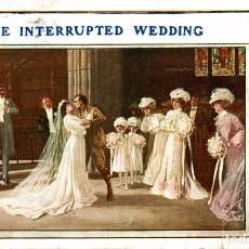 Postales: THE INTERRUPTED WEDDING. Lote 183773322