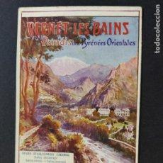 Postales: VERNET LES BAINS-PARADIS DELS PIRINEUS-GRAND ETABLISSEMENT THERMAL-POSTAL PUBLICIDAD ANTIGUA(64.691). Lote 184139097