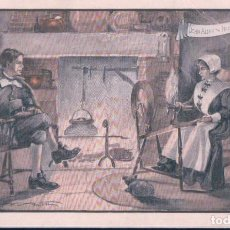 Postales: POSTAL PUBLICITARIA WALK-OVER SHOES - JOHN ALDEN AND PRISCILLA - PILGRIM SOCIETY - MASSACHUSETT. Lote 184200097