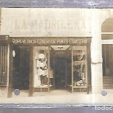 Postales: TARJETA POSTAL. FOTOGRAFICA. PAMPLONA. PUBLICITARIA. LA MADRILEÑA. ROPA BLANCA GENERO PUNTO 1924. Lote 184702956