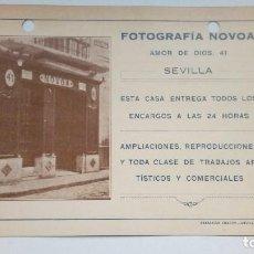 Postales: TARJETA FOTOGRAFIA NOVOA SEVILLA 1936 CON SELLO . Lote 184775173