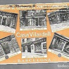 Postales: TARJETA POSTAL. PUBLICITARIA. CASA VILARDELL. BARCELONA. GENEROS DE PUNTO Y CAMISERIA. Lote 184925917