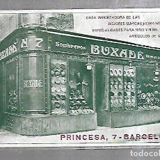 Postales: TARJETA POSTAL. SOMBREROS GORRAS EVA BUXADE. LITOGRAFIA COSTA. Lote 184926727