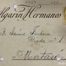 Postales: TARJETA POSTAL. ALGARIN HERMANOS. SEVILLA. 1922. VER FOTOS. . Lote 184927227