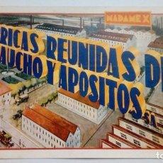 Postales: TARJETA POSTAL FABRICAS REUNIDAS DE CAUCHO Y APOSITOS MADAMEX CIRCULADA SEVILLA . Lote 185734546