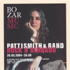 Postais: POSTAL BOZAR MUSIC. CONCIERTO PATTI SMITH & BAND (2004). Lote 186154618