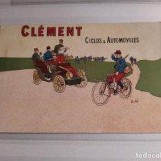 Postales: POSTAL PUBLICIDAD CLEMENT ,CICLOS & AUTOMÓVILES. Lote 187441838