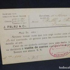 Postales: TARJETA POSTAL PUBLICITARIA. FABRICA DE GORRAS. RAMON FERRERI.. Lote 188651893