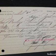 Postales: TARJETA POSTAL PUBLICITARIA. GOMEZ HERMANOS.. Lote 188652645