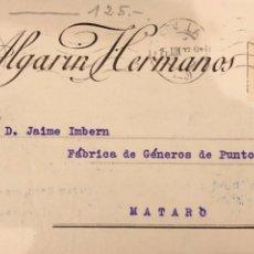 Postales: SEVILLA. ALGARIN HERMANOS. 1923 VER DORSO. Lote 189076226