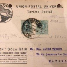 Postales: BARCELONA. BUEN. SOLA REIG. VER DORSO.. Lote 189081328