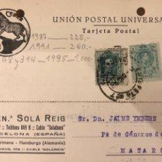 Postales: BARCELONA. BUEN. SOLA REIG. VER DORSO.. Lote 189081441