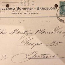 Postales: BARCELONA. GUILLERMO SCHIPPER. VER DORSO.. Lote 189081916