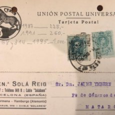 Postales: BARCELONA. BUEN. SOLA REIG. VER DORSO.. Lote 189082775