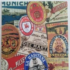 Postales: POSTAL DE ETIQUETAS DE CERVEZA. Lote 189402586