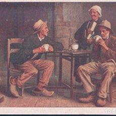 Postales: POSTAL CHICOREE A LA BERGERE - EMILE BONZEL - HAUBOURDIN - NORD. Lote 190200360