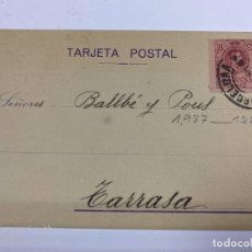 Postales: TARJETA POSTAL PUBLICITARIA. MOLINA, MUÑOZ & CO. BARCELONA, 1920.. Lote 190221518