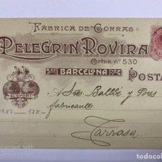 Postales: TARJETA POSTAL PUBLICITARIA.FABRICA DE GORRAS. PELEGRIN ROVIRA. BARCELONA, 1987.. Lote 190221846