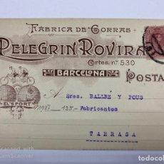 Postales: TARJETA POSTAL PUBLICITARIA.FABRICA DE GORRAS. PELEGRIN ROVIRA. BARCELONA, 1987.. Lote 190221868