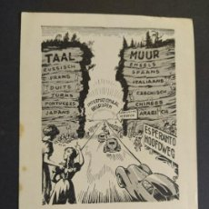 Postales: ESPERANTO-INTERNATIONAL BEGRUPEN-POSTAL PUBLICIDAD ANTIGUA-VER FOTOS-(65.941). Lote 190289208