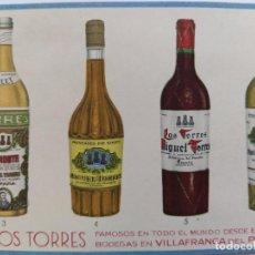 Postales: VINOS TORRES-BODEGAS EN VILLAFRANCA DEL PANADES-POSTAL PUBLICIDAD-VER REVERSO-(65.980). Lote 190368800