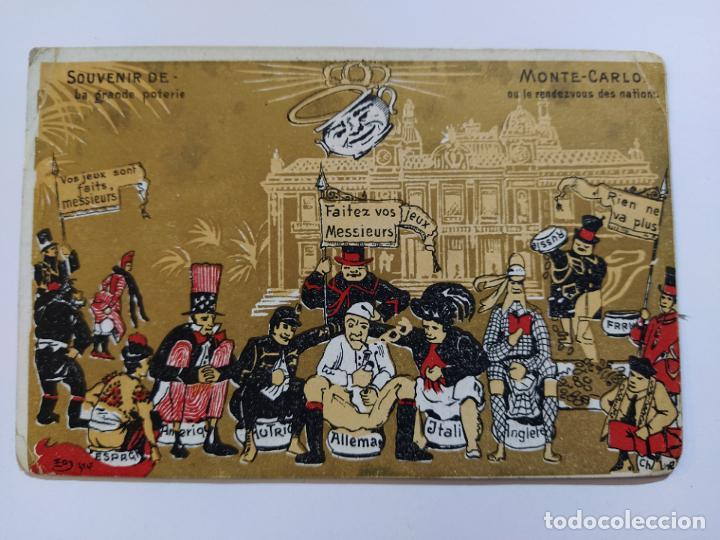 Postales: MONTE CARLO-SOUVENIR LE GRANDE POTERIE-POSTAL PUBLICIDAD ANTIGUA-(65.987) - Foto 2 - 190370695