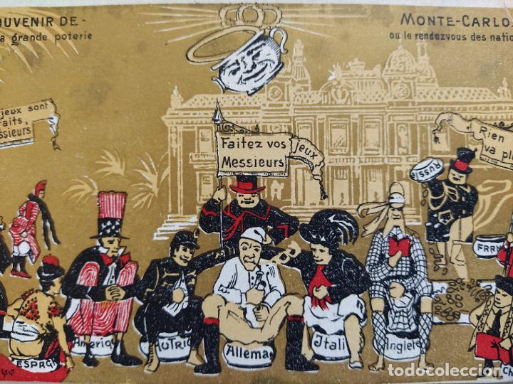 MONTE CARLO-SOUVENIR LE GRANDE POTERIE-POSTAL PUBLICIDAD ANTIGUA-(65.987) (Postales - Postales Temáticas - Publicitarias)