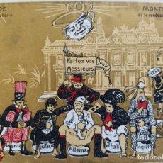 Postales: MONTE CARLO-SOUVENIR LE GRANDE POTERIE-POSTAL PUBLICIDAD ANTIGUA-(65.987). Lote 190370695