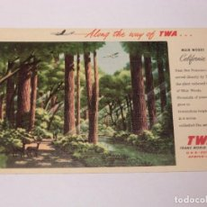 Postales: TWA, TRANS WORLD AIRLINES . CALIFORNIA, ALONG THE WAY OF TWA.. Lote 190539500