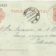 Postales: D.806823. LOGROÑO. EZCARAY. 1907. A A. BADIA. SABADELL. TARJETA POSTAL.. Lote 190546483