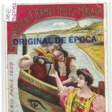 Postales: (PS-62452)POSTAL DE VINOS FINOS DE ESPAÑA-HIJO Y NIETO DE F.RAMOS TELLEZ MALAGA. Lote 191083741