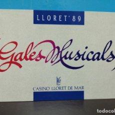 Postales: POSTAL GALAS CASINO LLORET DE MAR 1989 . Lote 191233746