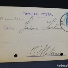 Postales: TARJETA POSTAL PUBLICITARIA. MOLINA, MUÑOZ & CO. BARCELONA 1924.. Lote 191450810